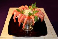 Shrimp. Delicacy healthy dinner food Royalty Free Stock Photos