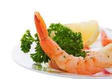 Shrimp dinner Royalty Free Stock Photo