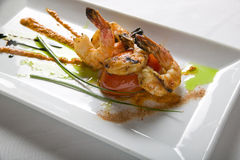 Shrimp Dinner Royalty Free Stock Images