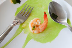 Shrimp in the dish royalty free stock images