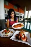 Shrimp dishes Royalty Free Stock Photo