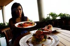 Shrimp dishes Stock Photos