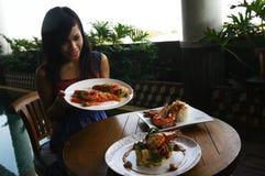 Shrimp dishes Royalty Free Stock Photos