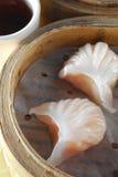 Shrimp dumpling. Steam shrimp dumpling dim sum Royalty Free Stock Photo