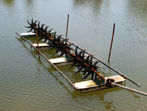 Shrimp farm Stock Images
