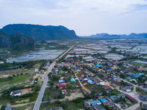 Shrimp farms from above in Sam Roi Yot National Park, Thailand. Stock Image