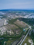 Shrimp farms from above in Sam Roi Yot National Park, Thailand. Stock Photo