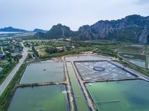 Shrimp farms from above in Sam Roi Yot National Park, Thailand. Stock Photos