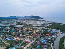 Shrimp farms from above in Sam Roi Yot National Park, Thailand. Stock Images