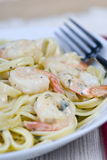 Shrimp Fettuccine Stock Image