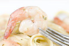 Shrimp Fettuccine Royalty Free Stock Image