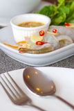 Shrimp in fish sauce. Is delicious of Thailand Royalty Free Stock Images