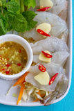 Shrimp in fish sauce Stock Photography