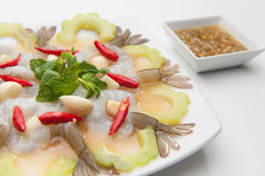 Shrimp in fish sauce Royalty Free Stock Photo