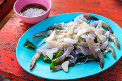 Shrimp in fish sauce Royalty Free Stock Images