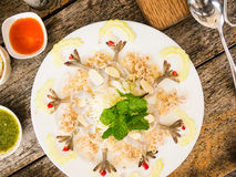 Shrimp in fish sauce. Thai food Royalty Free Stock Photos
