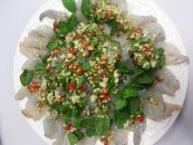 Shrimp in fish sauce Stock Photo