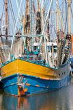 Prawn fishing boat in Dutch harbor Lauwersoog royalty free stock photography
