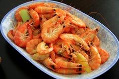 Shrimp food. Fresh seafood, chinese food Stock Photo