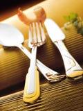 Shrimp on fork Royalty Free Stock Photography