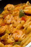 Shrimp fra diavolo Stock Photography