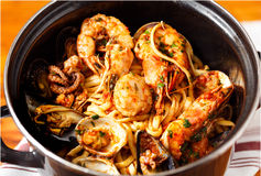 Shrimp Fra Diavolo Stock Photos