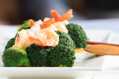 Shrimp Fried Broccoli broccoli Royalty Free Stock Photo
