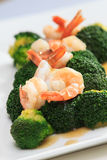 Shrimp Fried Broccoli broccoli Stock Images