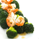 Shrimp Fried Broccoli broccoli Stock Photo