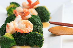 Shrimp Fried Broccoli broccoli Royalty Free Stock Image