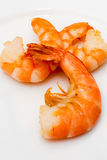 Shrimp fried in oil laid out Royalty Free Stock Photography
