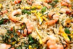 Shrimp Fried Rice. A close up of a bowl of shrimp fried rice Royalty Free Stock Photo