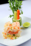 Shrimp fried rice. Asia food Stock Images