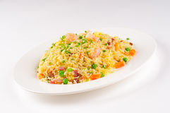Shrimp fried rice. Asian seafood fried rice, close up Royalty Free Stock Photography