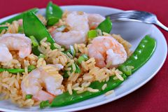 Shrimp Fried Rice Royalty Free Stock Images