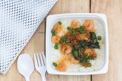 Shrimp Fried on rice Stock Photos