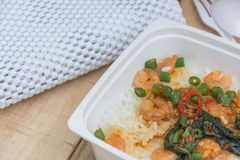 Shrimp Fried on rice Royalty Free Stock Photo