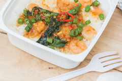 Shrimp Fried on rice Royalty Free Stock Image