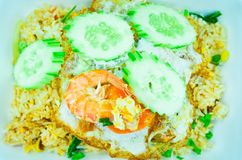Shrimp fried rice,Asian fried rice Royalty Free Stock Images