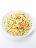 Shrimp fried rice. Asian food , Shrimp fried rice with vegetable on white background Stock Images