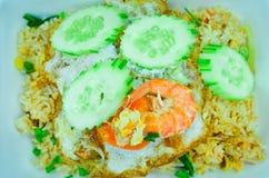 Shrimp fried rice,Asian fried rice Royalty Free Stock Photos