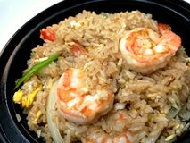 Shrimp fried rice. stock images
