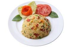 Shrimp fried rice (chinesse style) Stock Image