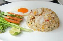 Shrimp fried rice. On dish Royalty Free Stock Photography