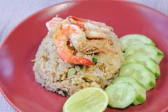 Shrimp Fried Rice, Food. Royalty Free Stock Images