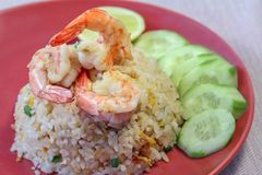 Shrimp Fried Rice, Food Staple, Asian Cuisine. Royalty Free Stock Image