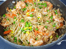 Shrimp fried rice. Home cooked meal of shrimp fried rice Royalty Free Stock Photography