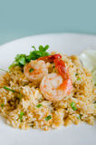 Shrimp and fried rice Stock Images
