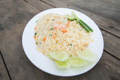Shrimp fried rice. Part of a series of nine Asian food dishes Royalty Free Stock Photos