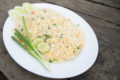 Shrimp fried rice. Part of a series of nine Asian food dishes Stock Photography